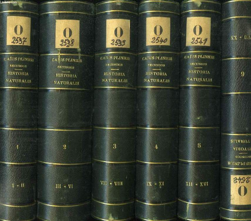 CAII PLINII SECUNDI HISTORIAE NATURALIS, LIBRI XXXVII, 10 TOMES (11 VOLUMES)