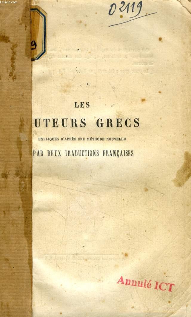 LES AUTEURS GRECS EXPLIQUES D'APRES UNE METHODE NOUVELLE, PAR DEUX TRADUCTIONS FRANCAISES, PINDARE, LES PYTHIQUES
