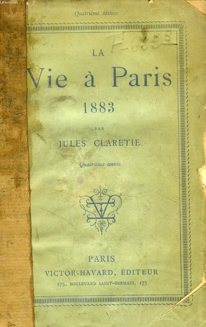 LA VIE A PARIS, 1883, 4e ANNEE