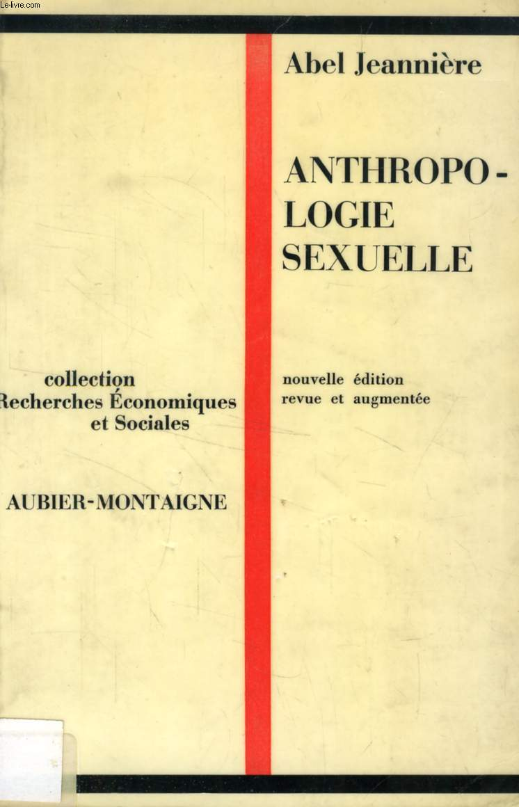 ANTHROPOLOGIE SEXUELLE