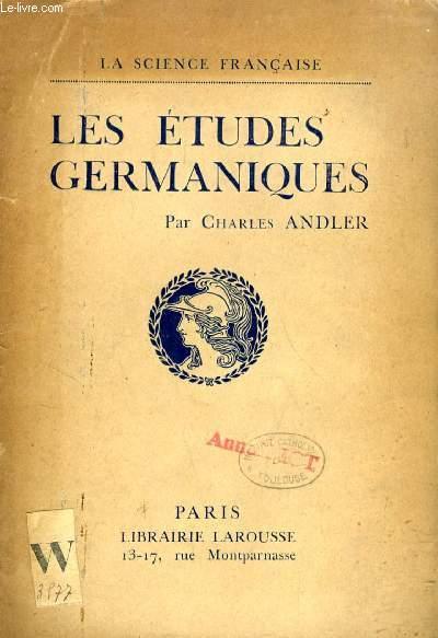 LES ETUDES GERMANIQUES