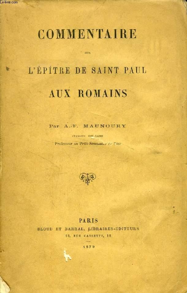 COMMENTAIRE SUR L'EPITRE DE SAINT PAUL AUX ROMAINS