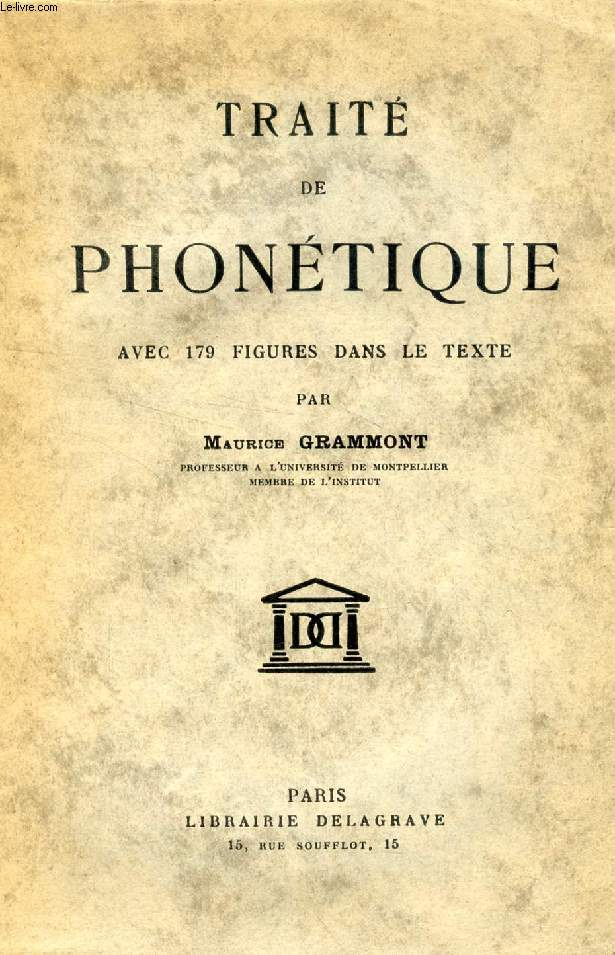 TRAITE DE PHONETIQUE