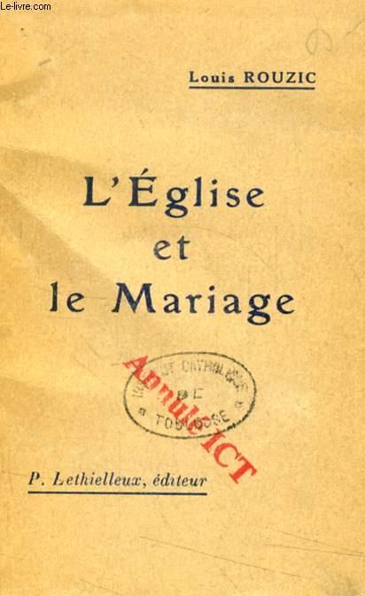 L'EGLISE ET LE MARIAGE