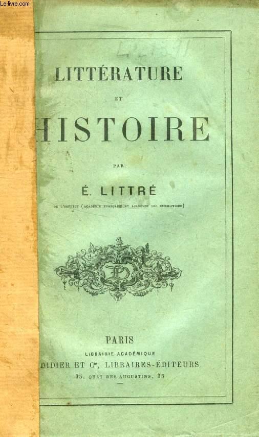LITTERATURE ET HISTOIRE