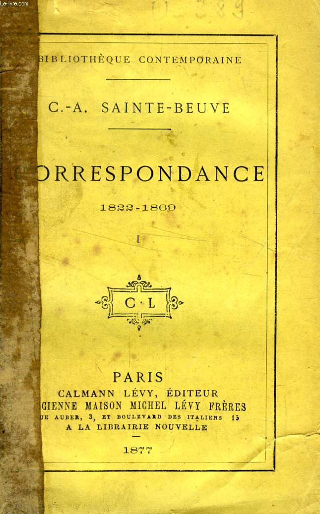 CORRESPONDANCE (1822-1865), TOME I