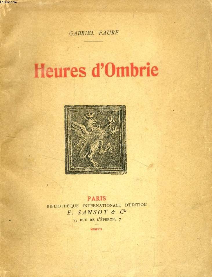HEURES D'OMBRIE