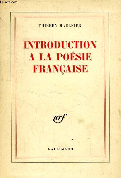 INTRODUCTION A LA POESIE FRANCAISE