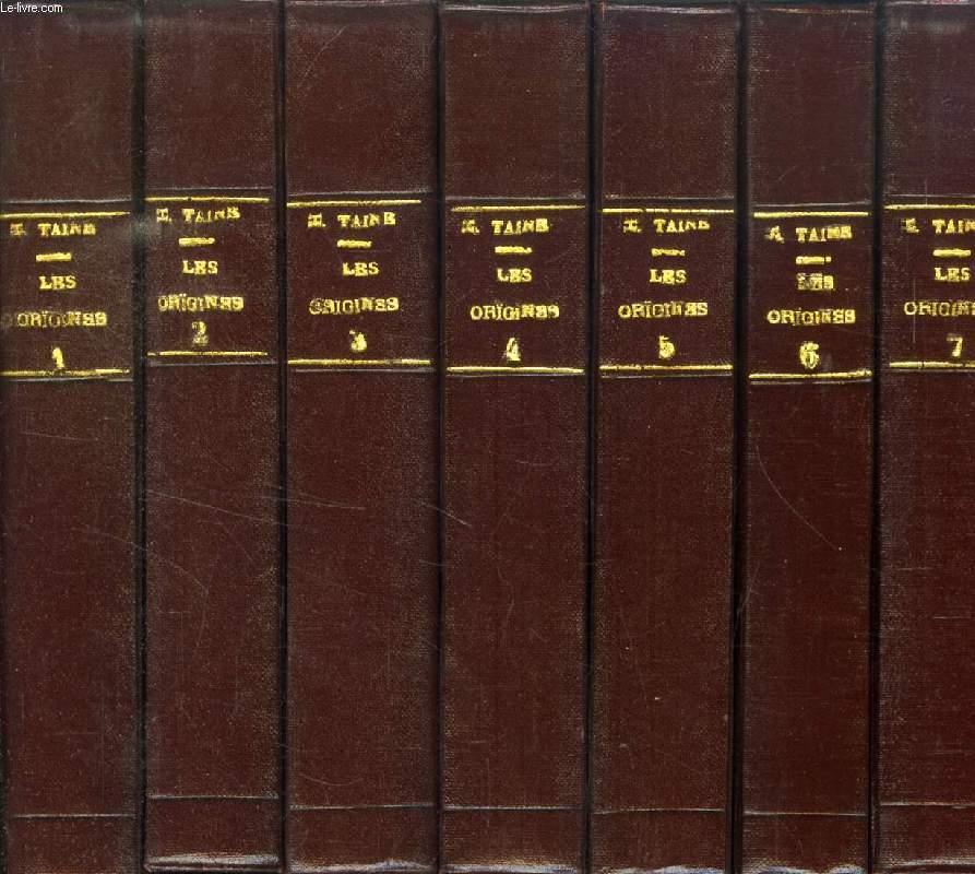 LES ORIGINES DE LA FRANCE CONTEMPORAINE, 11 TOMES + INDEX (12 VOLUMES) (COMPLET)
