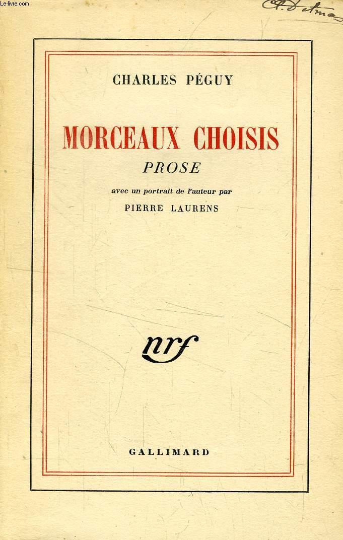 MORCEAUX CHOISIS, PROSE