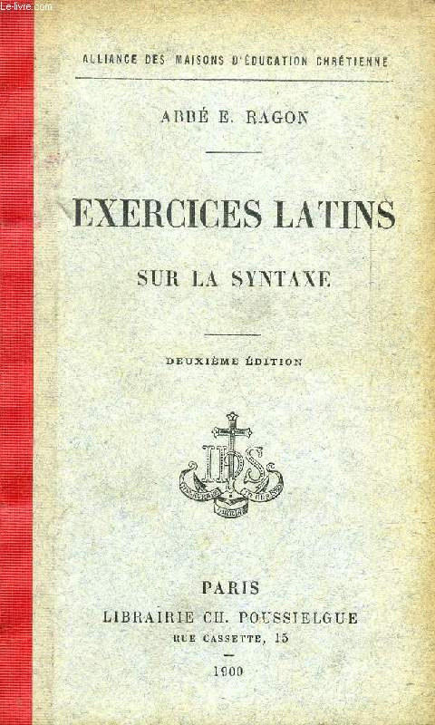 EXERCICES LATINS SUR LA SYNTAXE