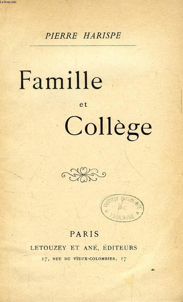 FAMILLE ET COLLEGE