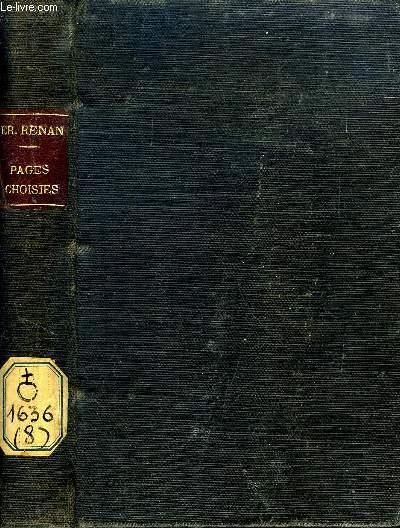 PAGES CHOISIES, A L'USAGE DS LYCEES ET EDS ECOLES NORMALES