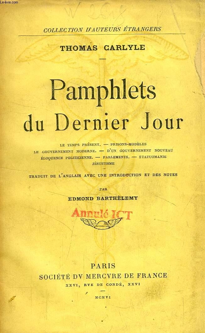 PAMPHLETS DU DERNIER JOUR
