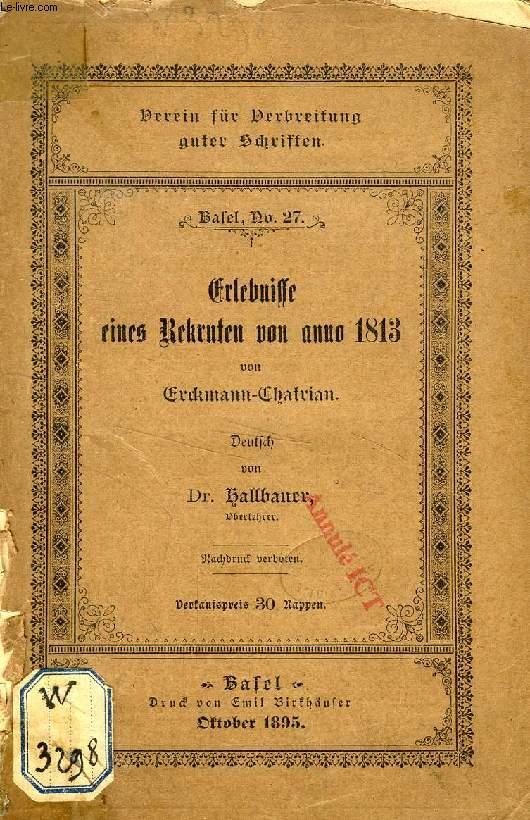 ERLEBNISSE EINES REKRUTEN VON ANNO 1813