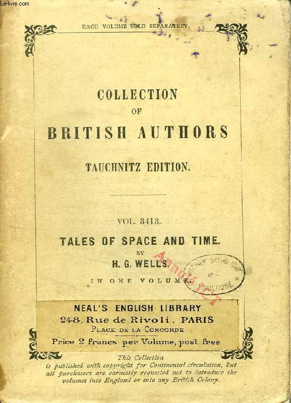 TALES OF SPACE AND TIME (COLLECTION OF BRITISH AUTHORS, VOL. 3413)