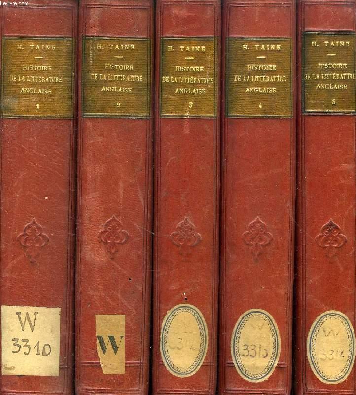 HISTOIRE DE LA LITTERATURE ANGLAISE, 5 TOMES
