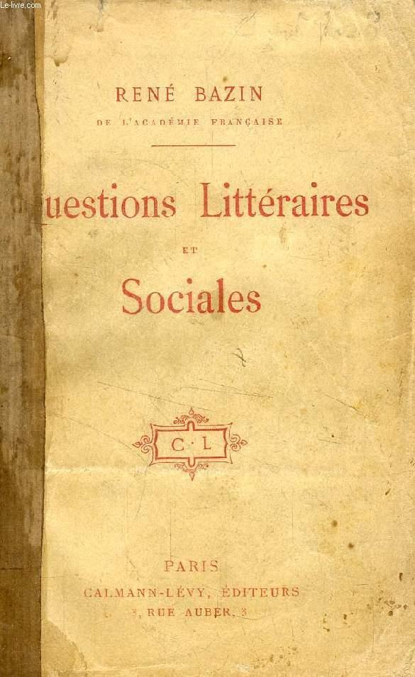 QUESTIONS LITTERAIRES ET SOCIALES