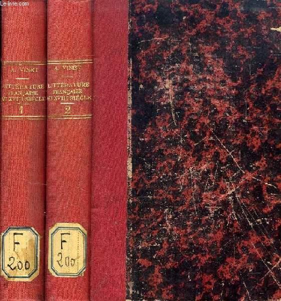 HISTOIRE DE LA LITTERATURE FRANCAISE AU DIX-HUITIEME SIECLE, 2 TOMES
