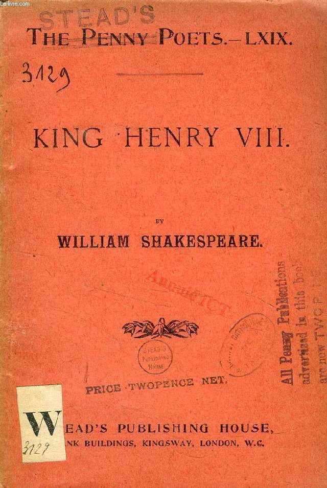 KING HENRY VIII (The Penny Poets, LXIX)