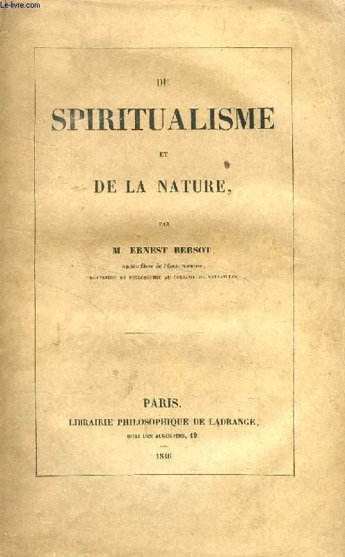 DU SPIRITUALISME ET DE LA NATURE