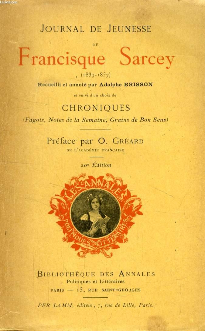 JOURNAL DE JEUNESSE DE FRANCISQUE SARVEY (1839-1857)
