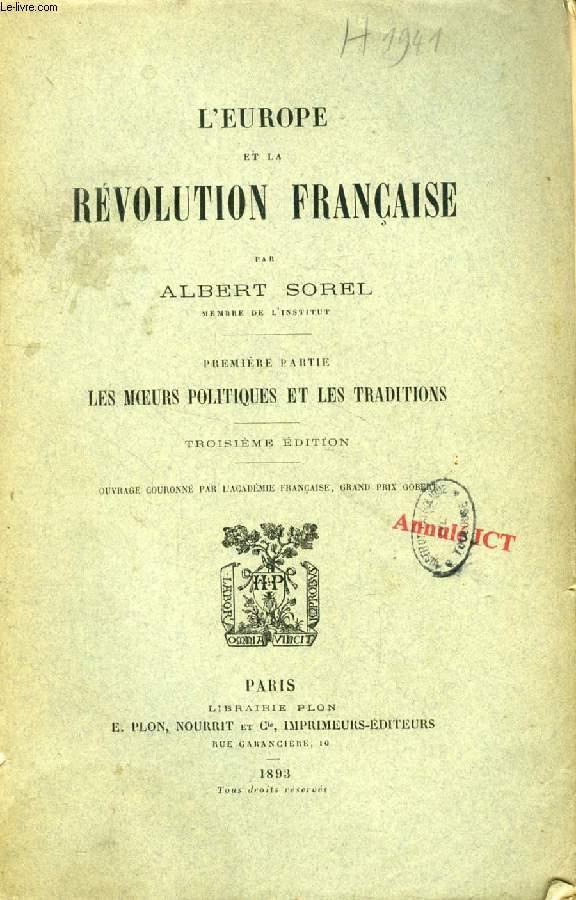 L'EUROPE ET LA REVOLUTION FRANCAISE, 4 TOMES