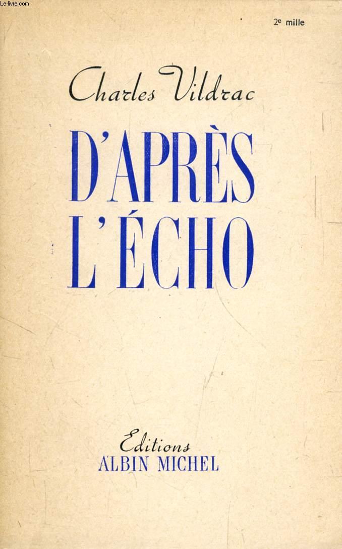 D'APRES L'ECHO
