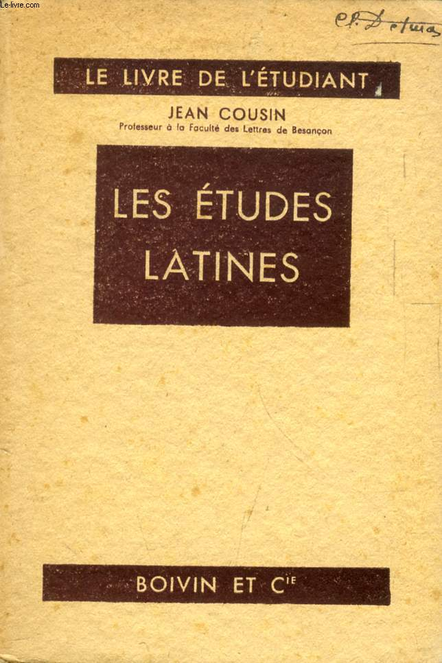 LES ETUDES LATINES