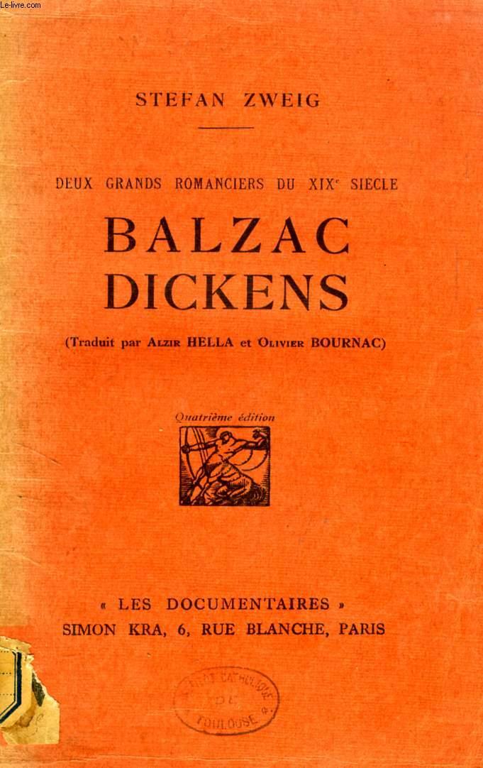 BALZAC, DICKENS, DEUX GRANDS ROMANCIERS DU XIXe SIECLE
