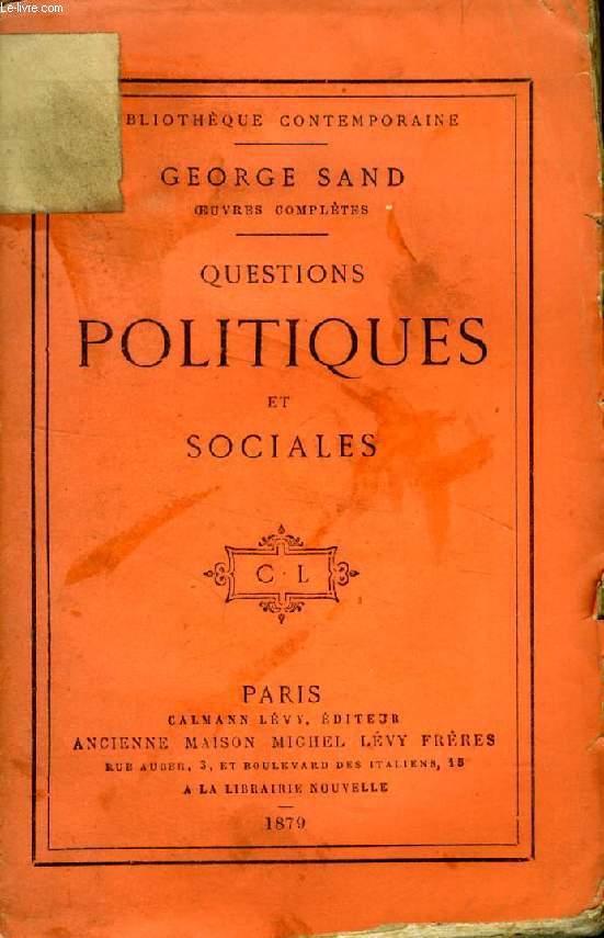 QUESTIONS POLITIQUES ET SOCIALES