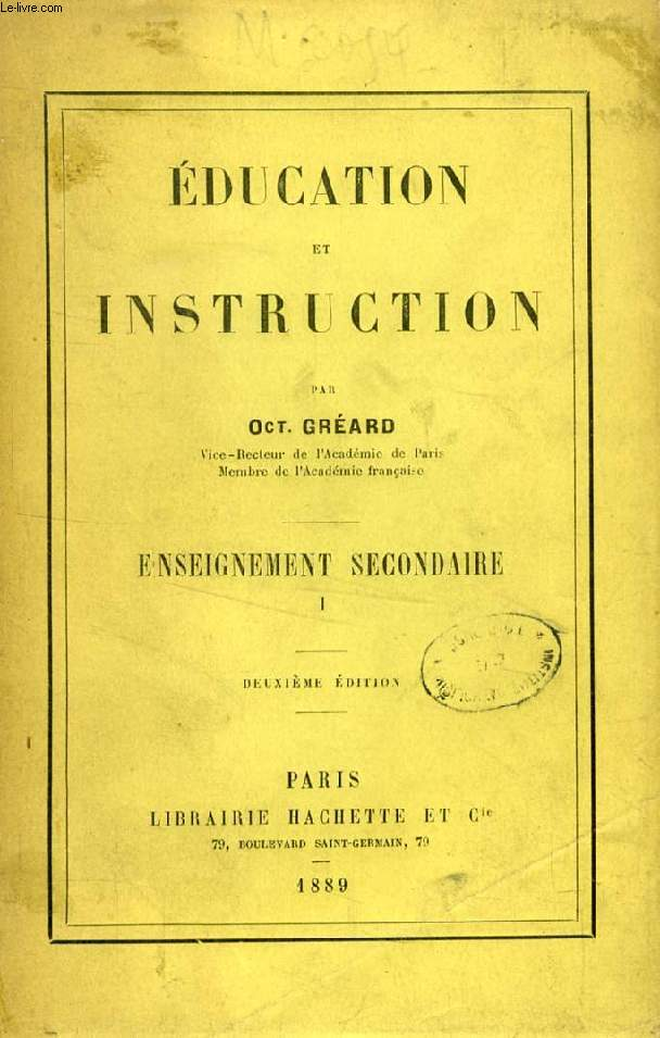 EDUCATION ET INSTRUCTION, 2 TOMES