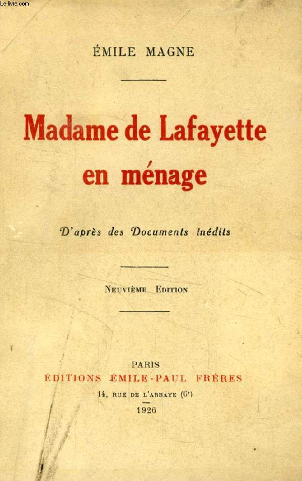 MADAME DE LAFAYETTE EN MENAGE