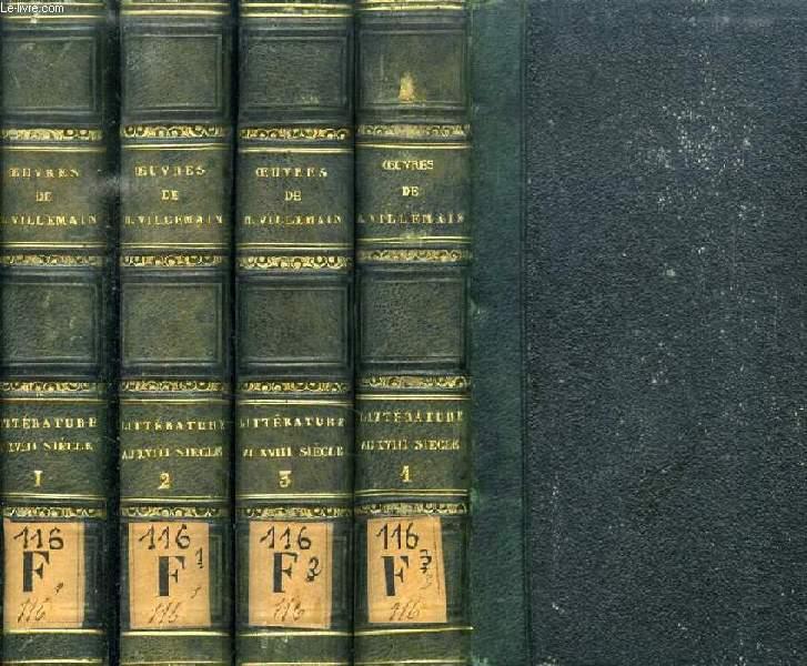 COURS DE LITTERATURE FRANCAISE, TABLEAU DE LA LITTERATURE AU XVIIIe SIECLE, 4 TOMES (COMPLET)
