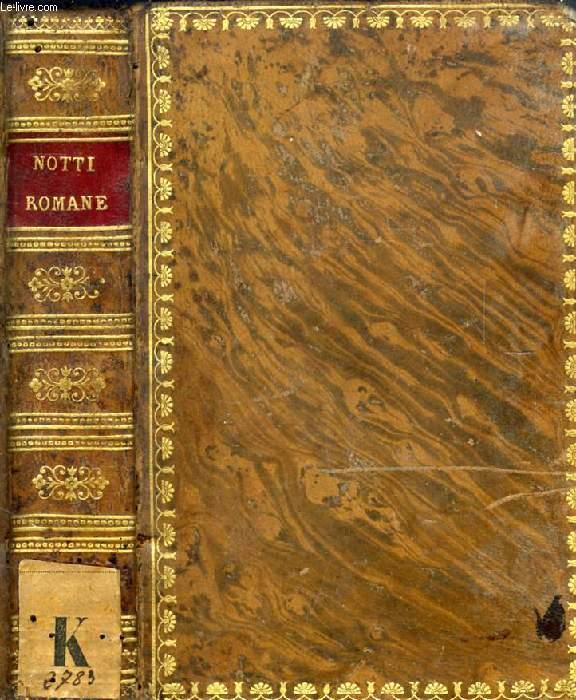 LE NOTTI ROMANE DEL CONTE ALESSANDRO VERRI AL SEPOLCRO DEGLI SCIPIONI, 2 TOMI (1 VOLUME)