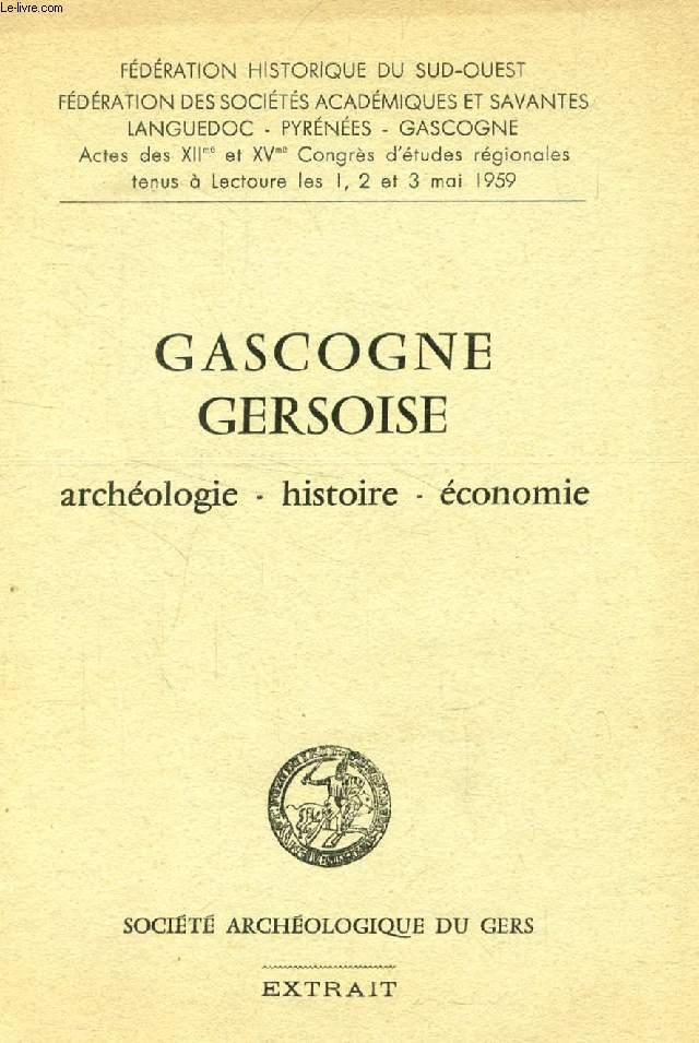 GASCOGNE GERSOISE (EXTRAIT), PIGEONNIERS A ESCALIER BATI, FONTS BAPTISMAUX DE BASTANOUS (TIRE A PART)