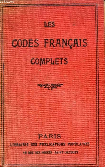 LES CODES FRANCAIS COMPLETS