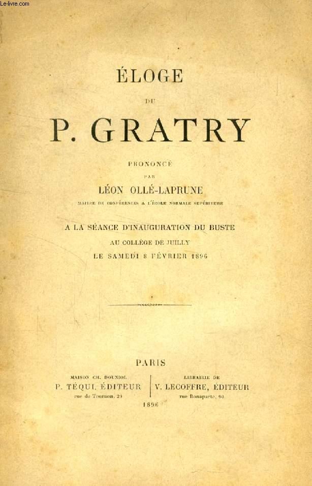 ELOGE DU P. GRATRY