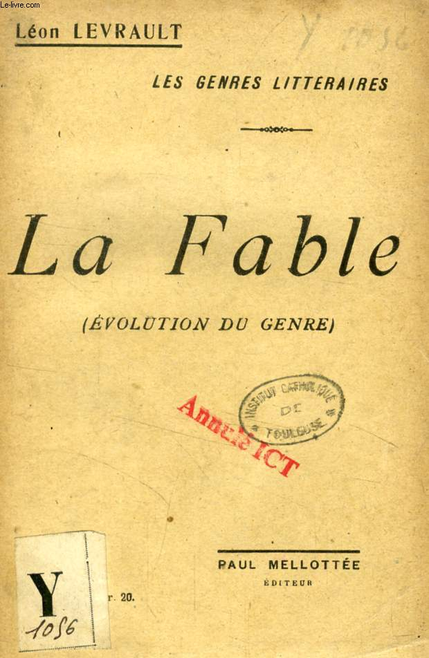 LA FABLE (EVOLUTION DU GENRE)