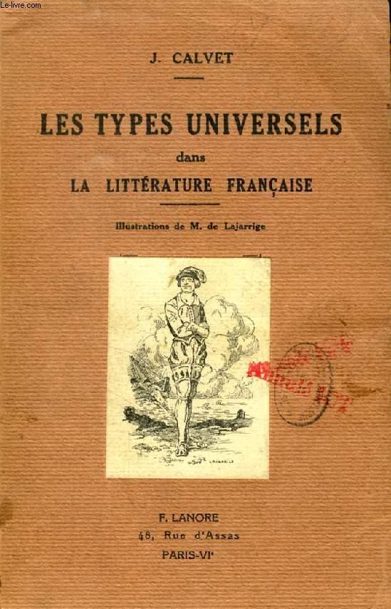 LES TYPES UNIVERSELS DANS LA LITTERATURE FRANCAISE