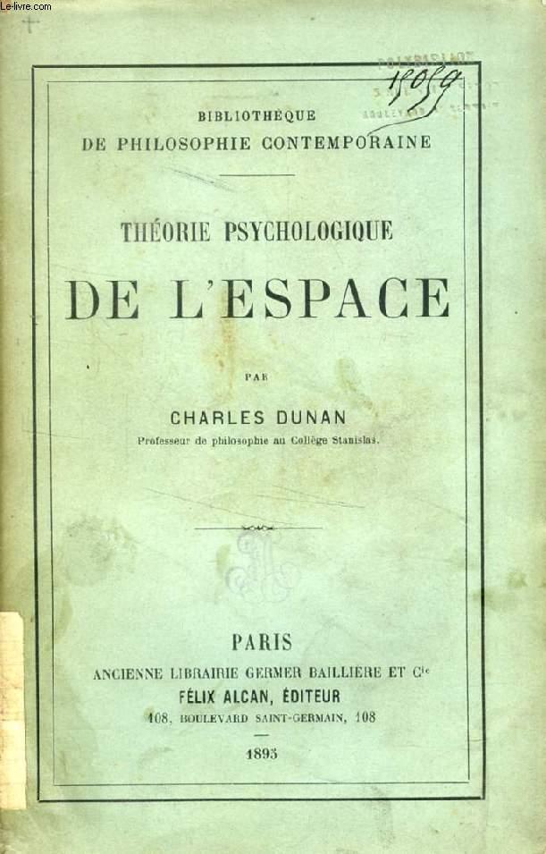 THEORIE PSYCHOLOGIQUE DE L'ESPACE