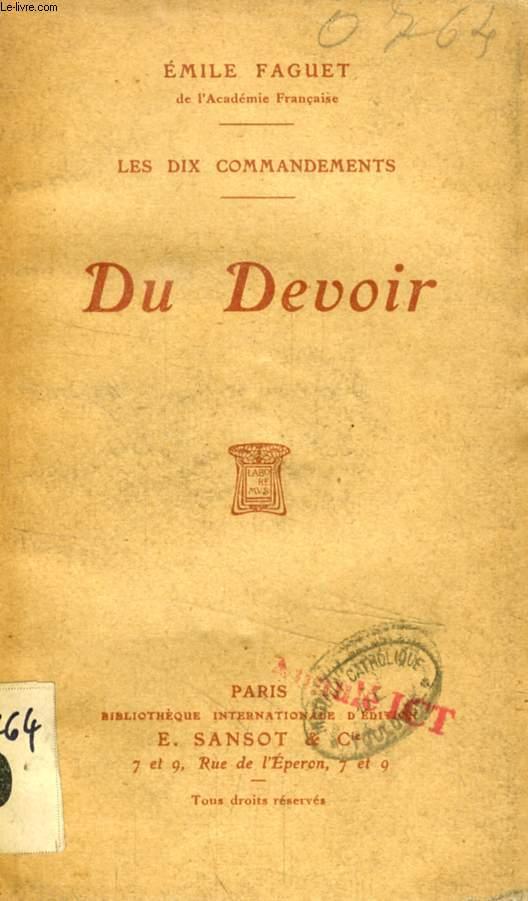 DU DEVOIR (LES DIX COMMANDEMENTS)