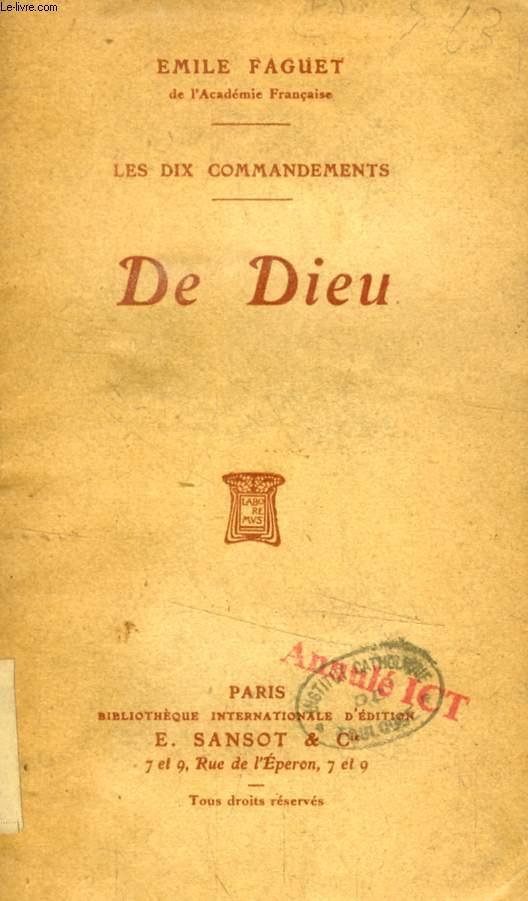 DE DIEU (LES DIX COMMANDEMENTS)