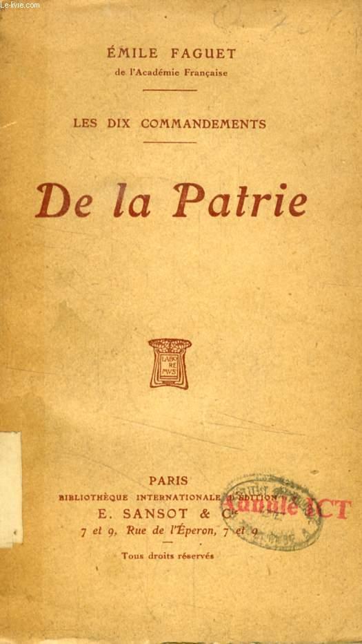 LA PATRIE (LES DIX COMMANDEMENTS)
