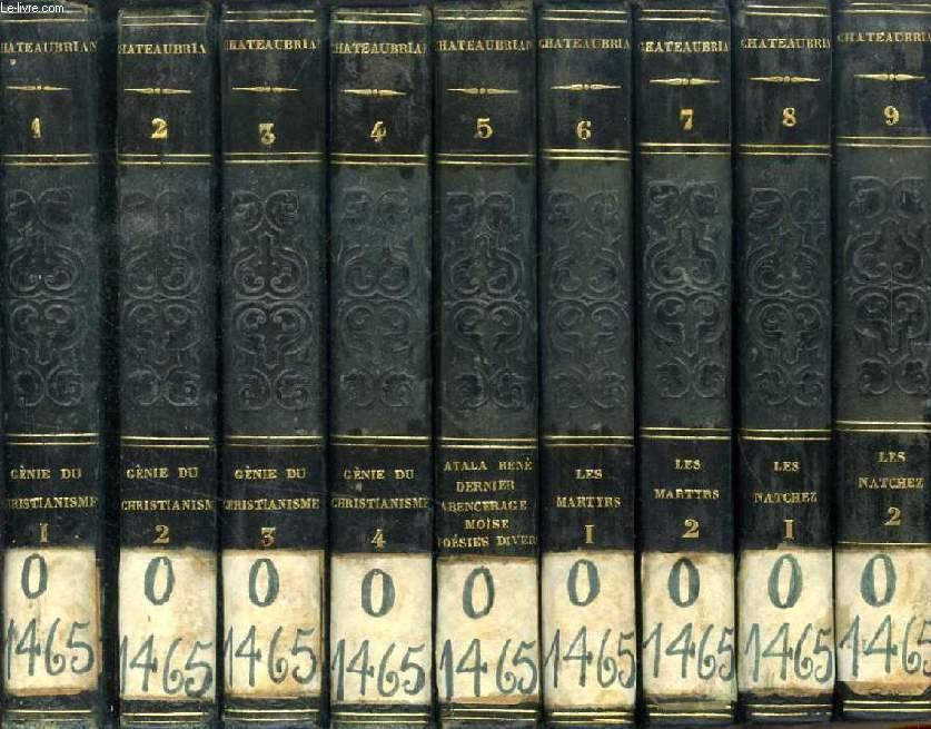 OEUVRES DE M. LE VICOMTE DE CHATEAUBRIAND, 20 TOMES (INCOMPLET)