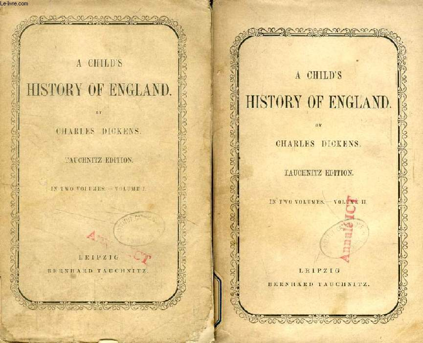 A CHILD'S HISTORY OF ENGLAND, 2 VOLUMES