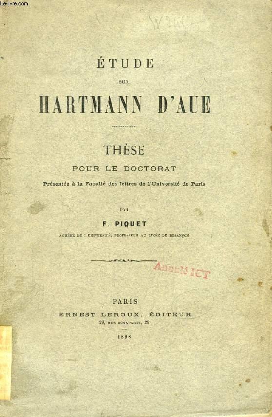 ETUDE SUR HARTMANN D'AUE (THESE)