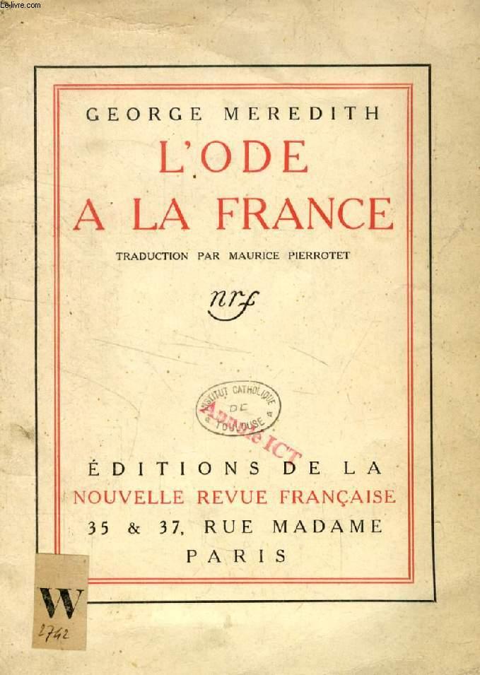 L'ODE A LA FRANCE