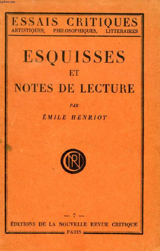 ESQUISSES ET NOTES DE LECTURE