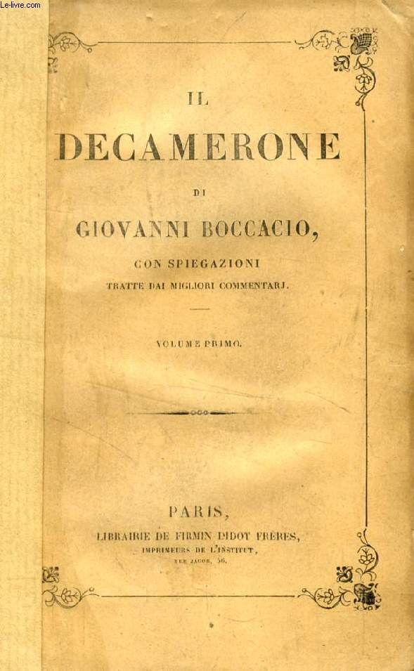 IL DECAMERONE, 2 VOLUMI
